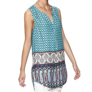 B2G1 Daniel Rainn Mixed Print Sleeveless Tunic